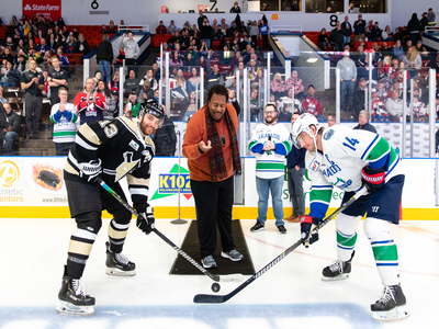 K-Wings Ceremonial Faceoff