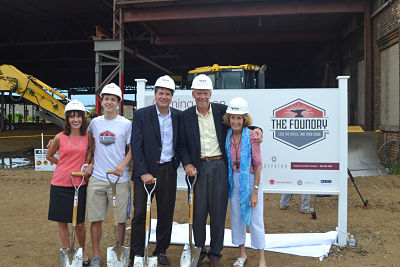 The Foundry groundbreaking with the Brown family